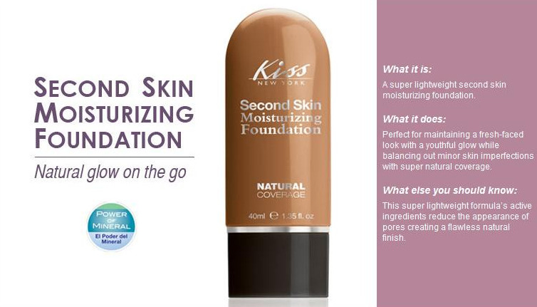 Second Skin Moisturizing Fondation